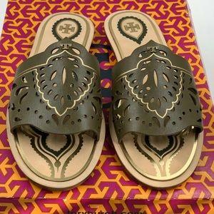 NEW Tory Burch Annika Flat Slide Sandals